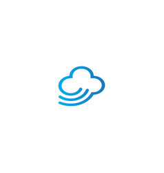 cloud line design logo vector image