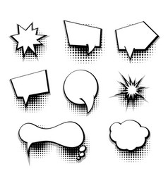 collection comic text blank template speech bubble vector image