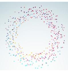 Colorful bright round circle design element vector