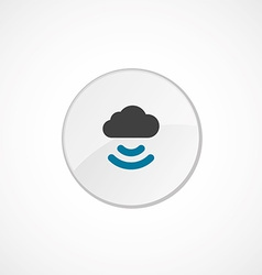 connect cloud icon 2 colored vector image