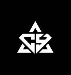cy monogram logo with diamond shape and triangle vector image