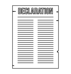 Declaration of independence icon outline style vector