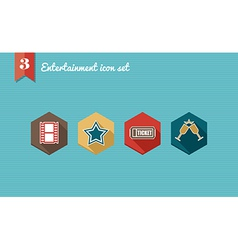 Entertainment flat icons set vector image