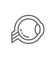 Eyeball optic nerve line icon vector