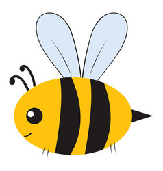 Fat bumblebee on white background vector