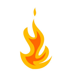 fire symbol flat design icon vector image