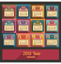 Flat calendar 2015 year design vector