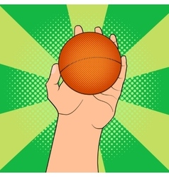 Game ball in hand vector