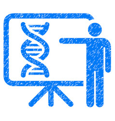 Genetics report grunge icon vector