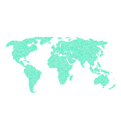 green world map from different points vector image
