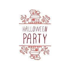 Halloween party - typographic element vector
