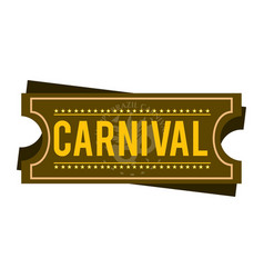 Happy brazilian carnival festival carnival ticket vector