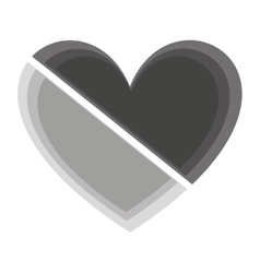 Heart medical isolated icon vector