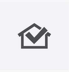 Home ok icon vector