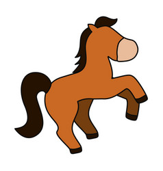 horse cute cartoon vector image vector image