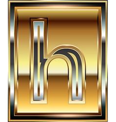 Ingot Font Letter h vector