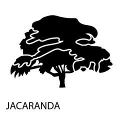 jacaranda icon simple style vector image
