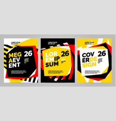 Layout design template for sport event tournament vector