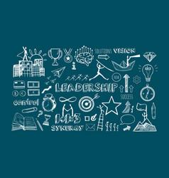 leadership icons set vector image
