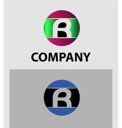 Letter R logo Icons Set Graphic Design vector