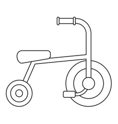 Little tricycle icon outline style vector