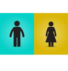 Man and woman simple icon vector image