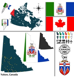 Map of Yukon vector image