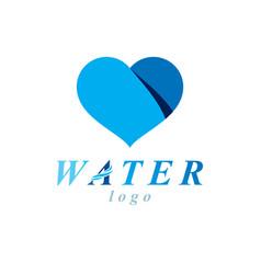 ocean freshness theme logotype water day vector image