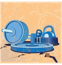 old school gym vector image