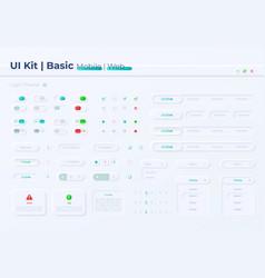 Option buttons ui elements kit vector