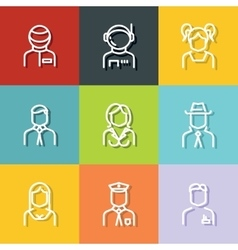 People avatars characters staff vector image