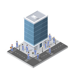 people walking around city vector image