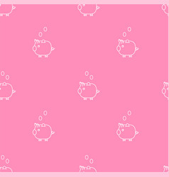 pink piggy bank seamless pattern vector image