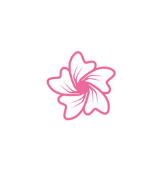 Plumeria flower icon design template isolated vector