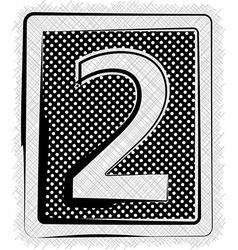 Polka Dot Font NUMBER 2 vector