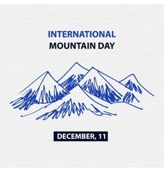 Poster international mountain day December vector