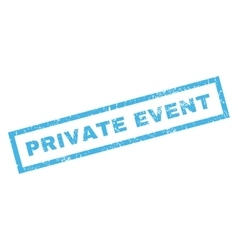 Private Event Rubber Stamp vector