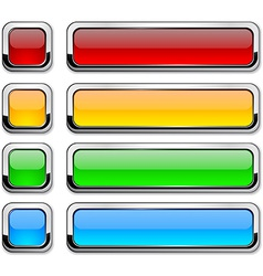 Rectangular buttons on white vector