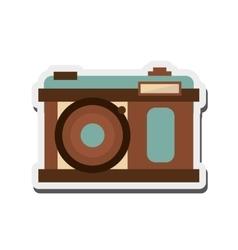 Retro photographic camera icon vector