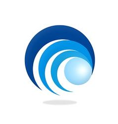 Round ball circle eye logo vector