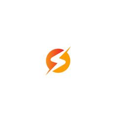 round s initial company logo vector image