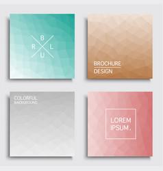 set colorful covers - geometric blur design vector image