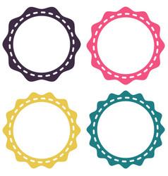 set template sunburst shapes badges starburst vector image