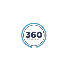 simple 360 circle project logo vector image