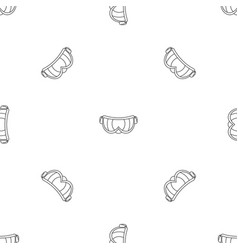 ski glasses pattern seamless vector image