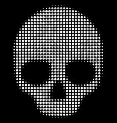 skull halftone icon vector image