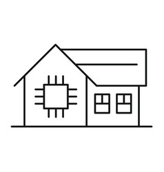 smart home icon outline style vector image