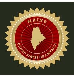 Star label Maine vector image