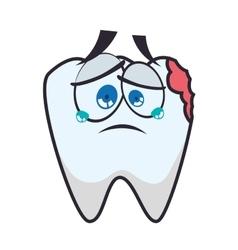 Tooth dental care health hygiene icon vector