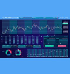 Trading infographic elements vector
